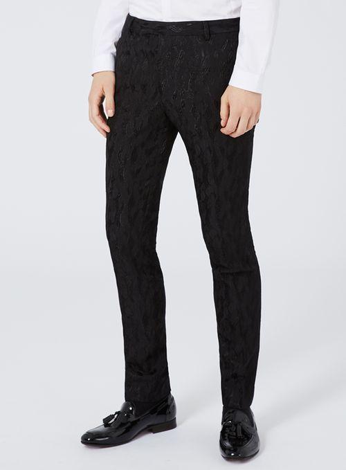 Black Jacquard Ultra Skinny Fit Suit - Prom - Suits - TOPMAN ...
