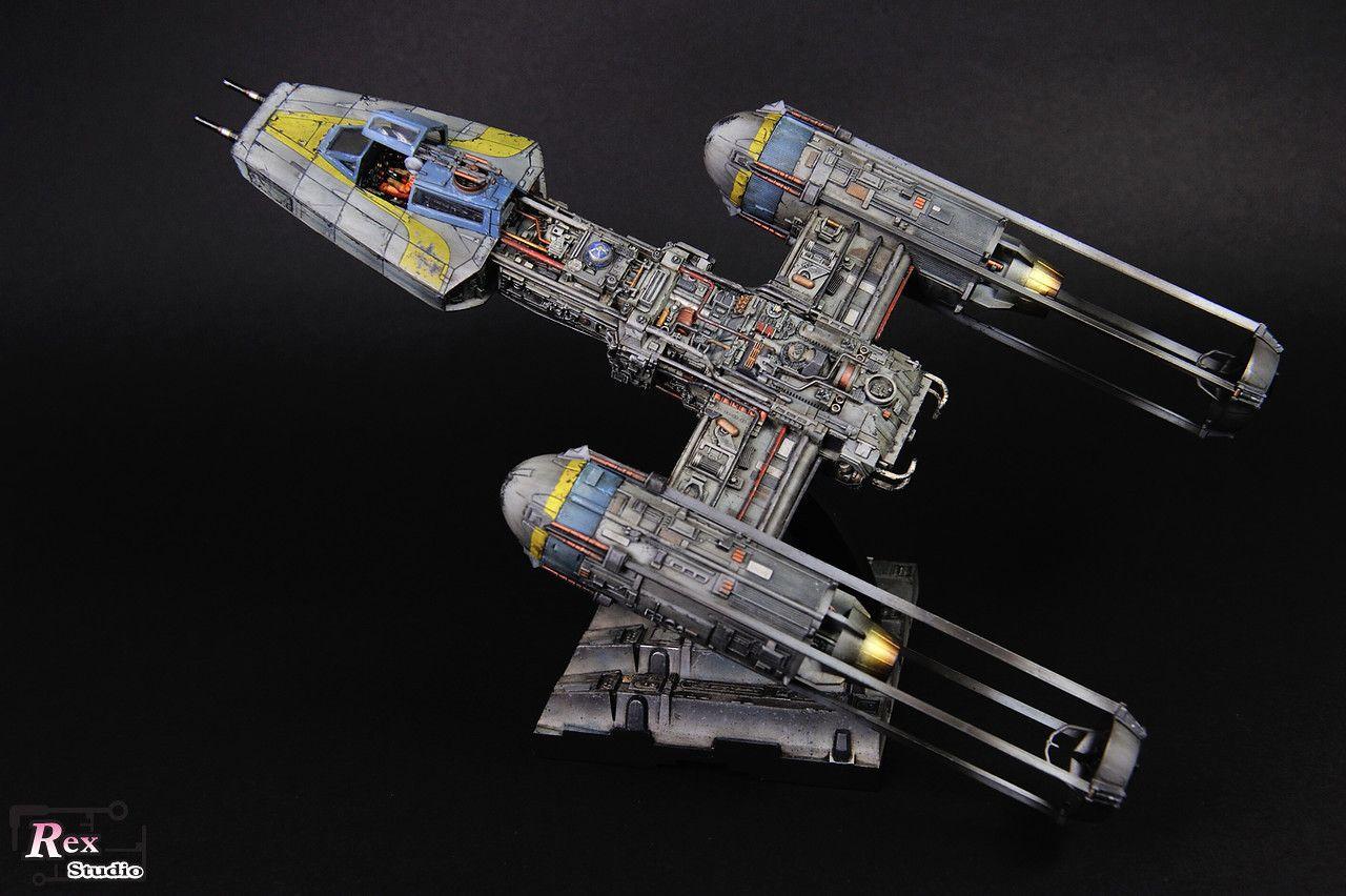 Rex Studio's Bandai x Star Wars 1/72 Y-Wing Starfighter: PhotoReview Big Size Images http://www.gunjap.net/site/?p=288126