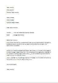 voorbeeld opmaak brief