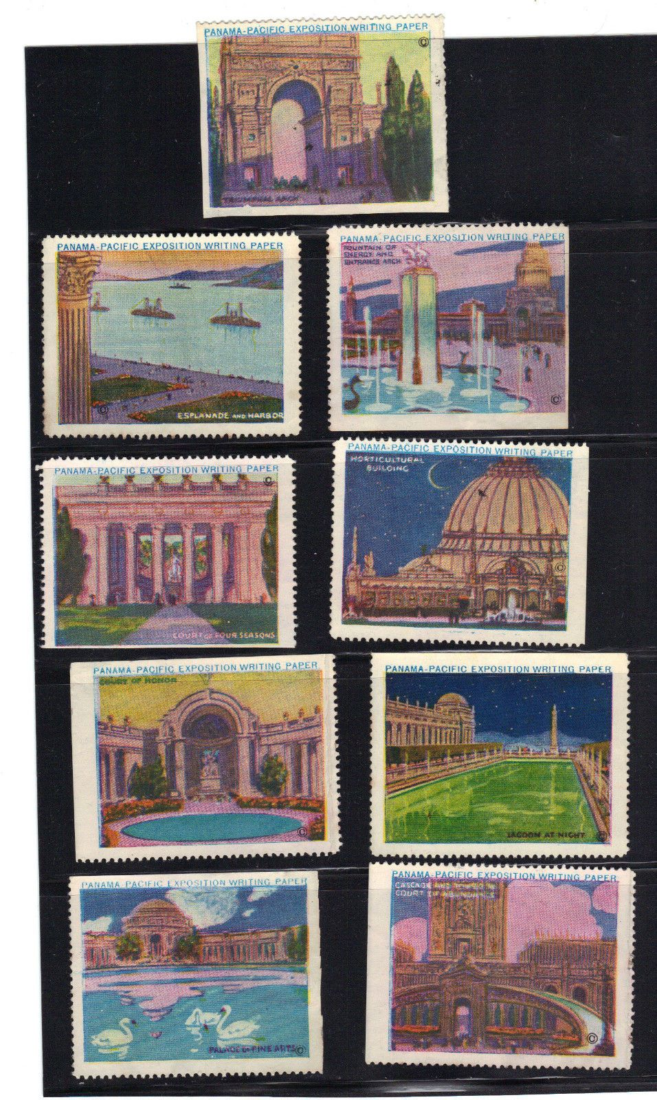 STAMP SAN FRANCISCO 1915 PANAMA-PACIFIC EXPOSITION PALACE OF THE ARTS CA