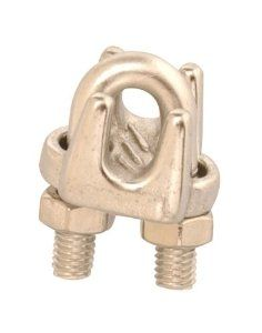 Campbell Chain Coopertools T7633002 U Bolt Wire Rope Clip 1 8 By Campbell 3 99 Includes Hex Nuts Use On 1 8 Or 5 32 Bar 316 Stainless Steel Hex Nut Bolt