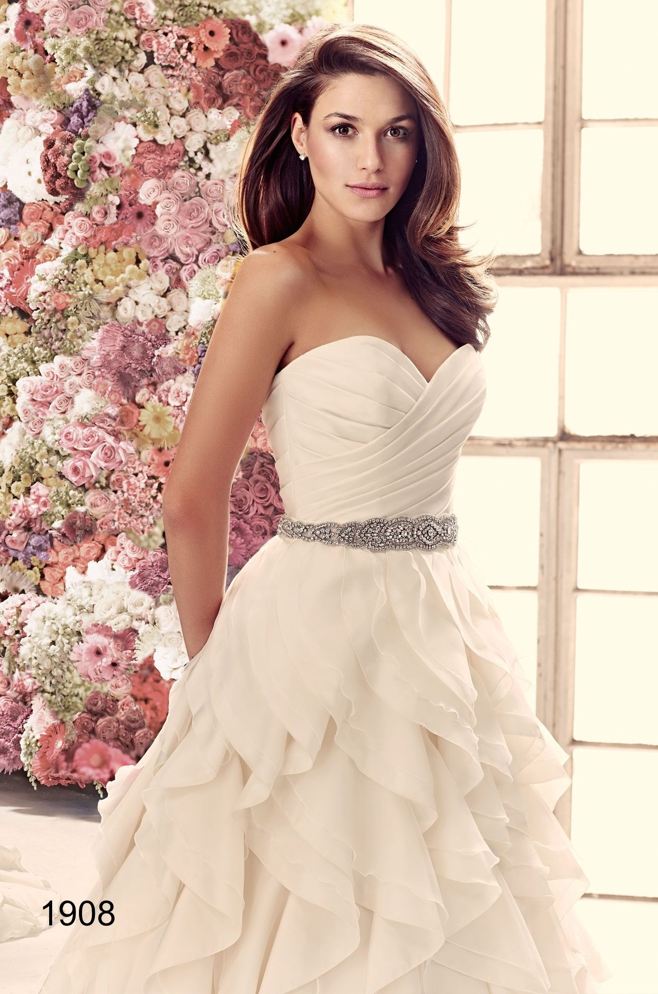 Mikaella by paloma blanca stunning bridal gown with added sparkle