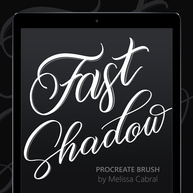 Ipad Lettering Digital Download Shadow Procreate Brush Instant Download iPad lettering Calligraphy Brush
