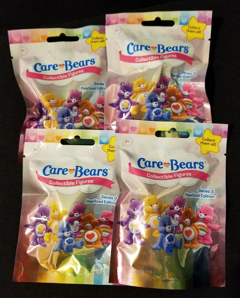 NEW CARE BEARS COLLECTIBLE FIGURES SERIES 3 PEARLIZED EDITION BLIND BAG FREE S/&H