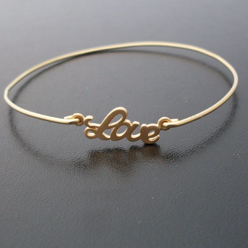 All you need is love bangle bracelet frosted willow love jewelry