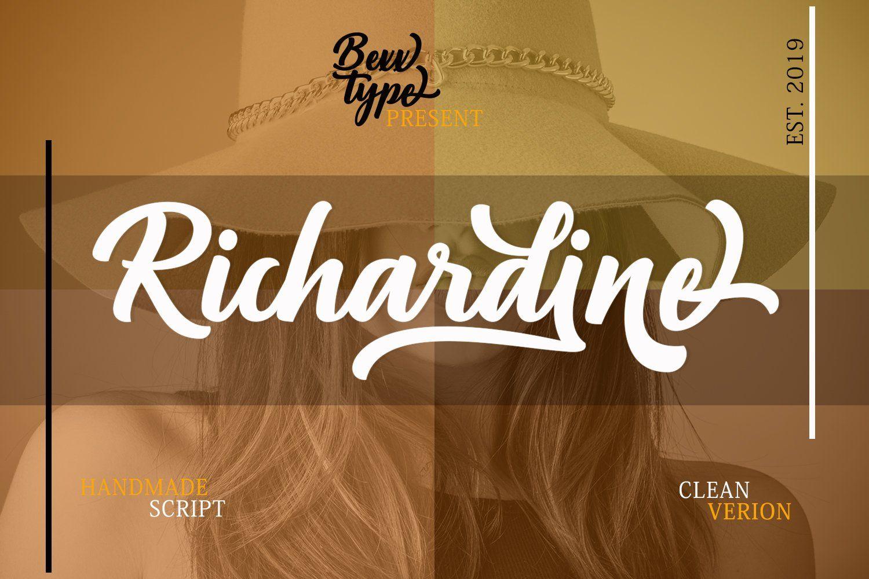 Richardine Script Retro signage, Script fonts, Microsoft