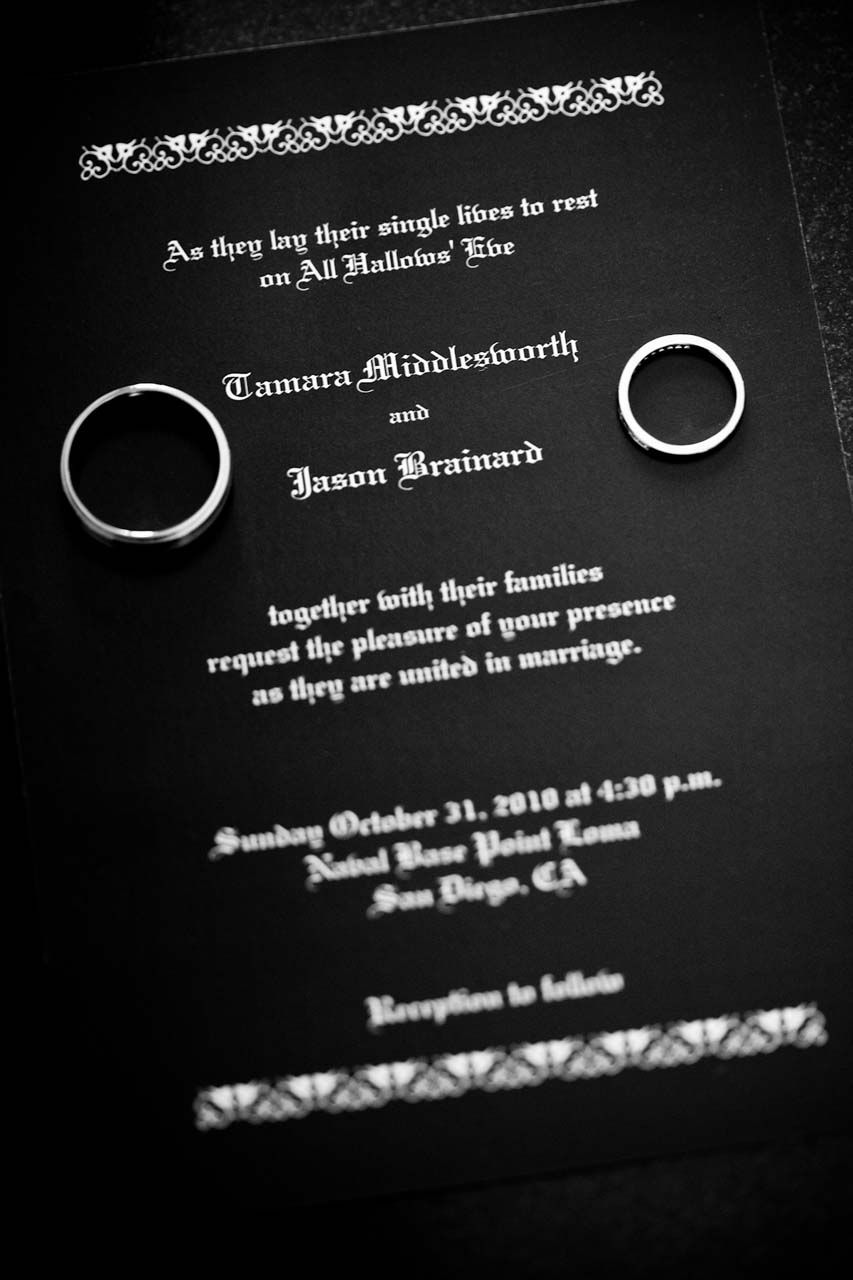 Our favorite ideas from real halloween weddings halloween weddings halloween wedding invitation filmwisefo