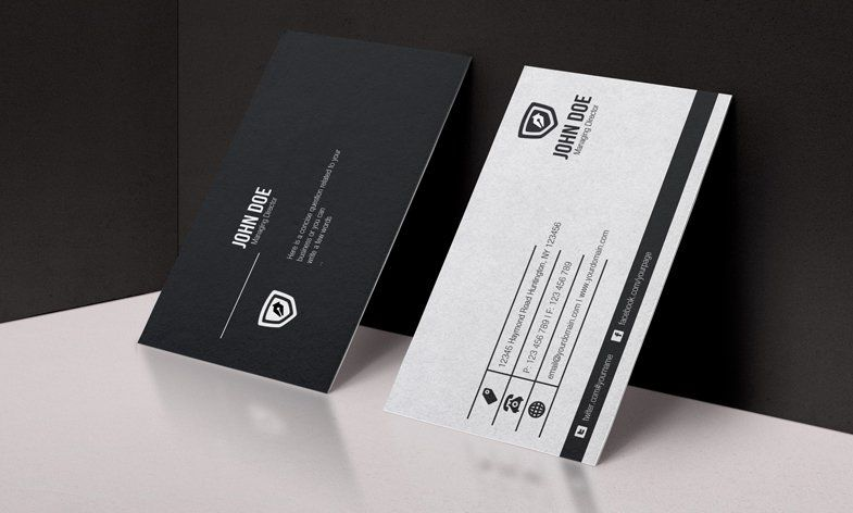 Black white business card template psd bussiness cards pinterest black white business card template psd reheart Image collections