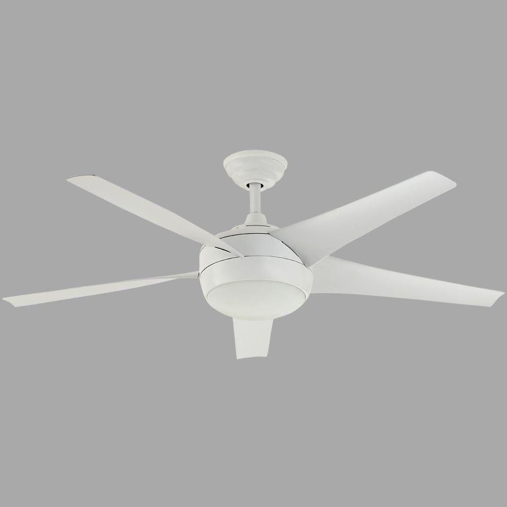 Home decorators collection windward iv 52 in matte white ceiling fan home decorators collection windward iv 52 in brushed nickel ceiling fan 26663 the aloadofball Image collections