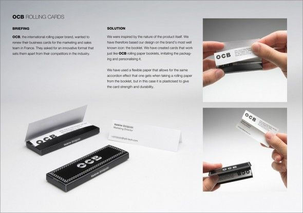 Rolling Paper Business Cards Examples Of Business Cards Business Card Design Business Cards