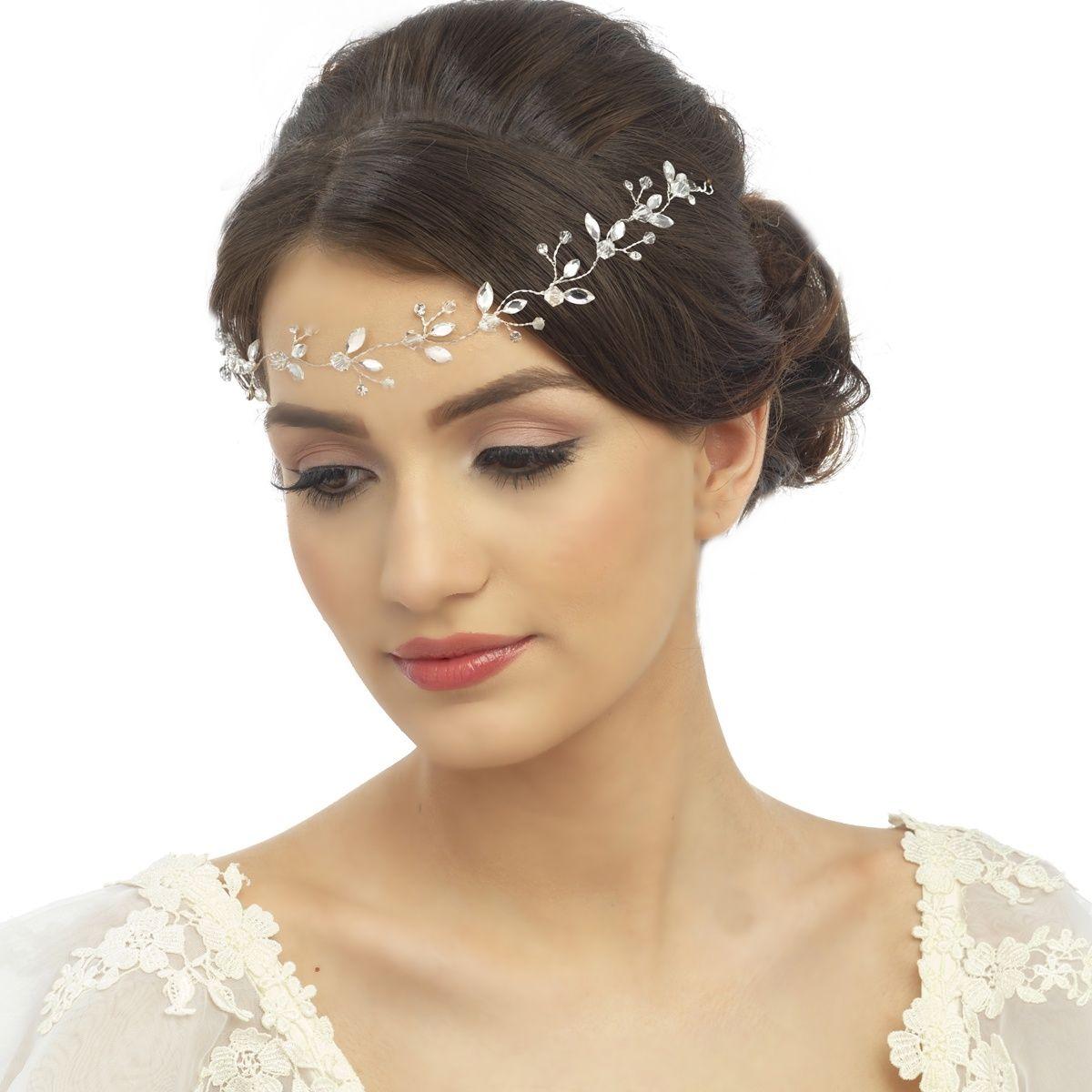 crystal chic wedding hair piece,uk,aye do   brown neutral beige