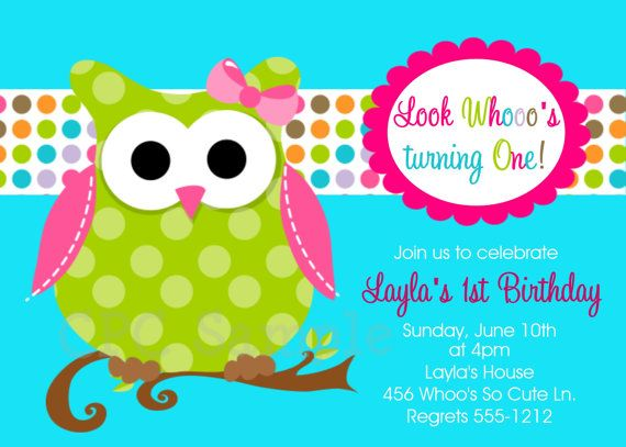 Owl Birthday Invitations Printable or Printed Invite – Owl Party Invitations
