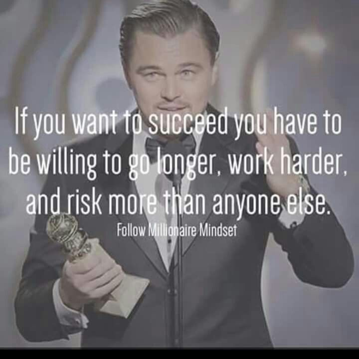 If you want to succeed