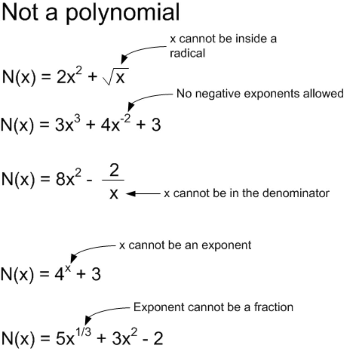 Examples Of Non Polynomials