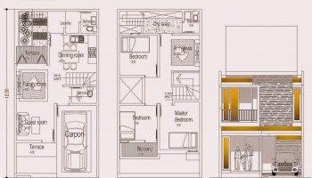 desain rumah dua lantai tipe sendang biru di lahan 6×12 m2