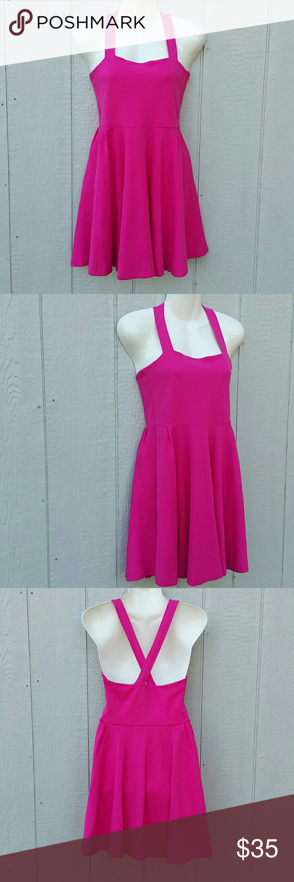 Zara Evening Collection Hot Pink Party Dress   Pink party dresses ...