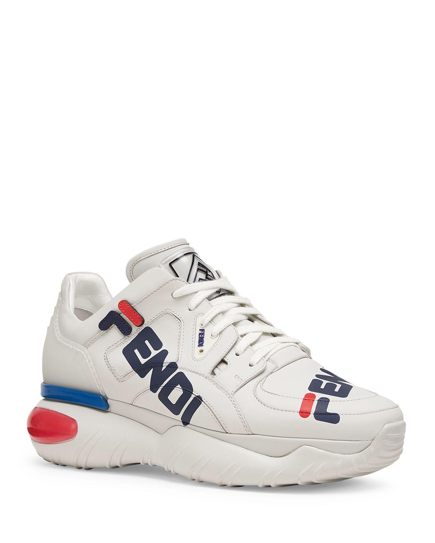 quality design 671df 49db8 FENDI MEN S FENDI MANIA LOGO-PRINT LEATHER DAD SNEAKERS.  fendi  shoes