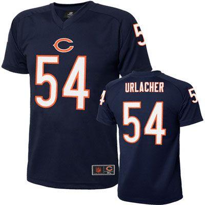 31eab116 Brian Urlacher Chicago Bears Toddler / Kids Navy Performance T-Shirt ...