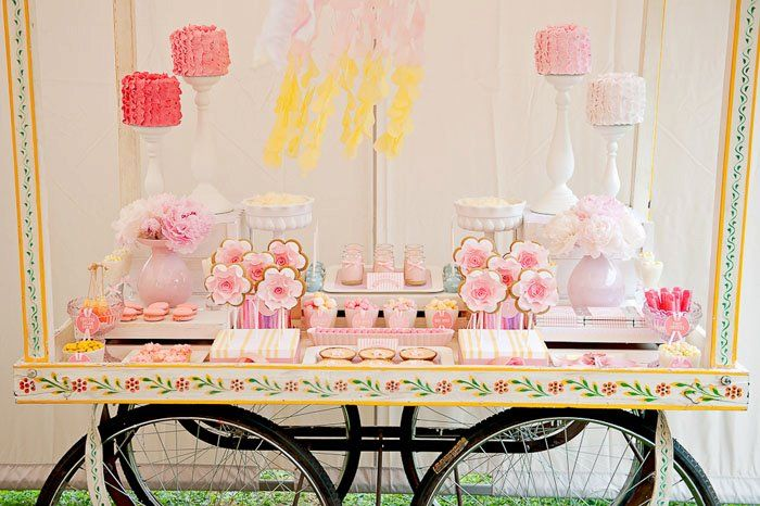 Candy floss cart beautifully styled by Lilian from Lily Chic Events.