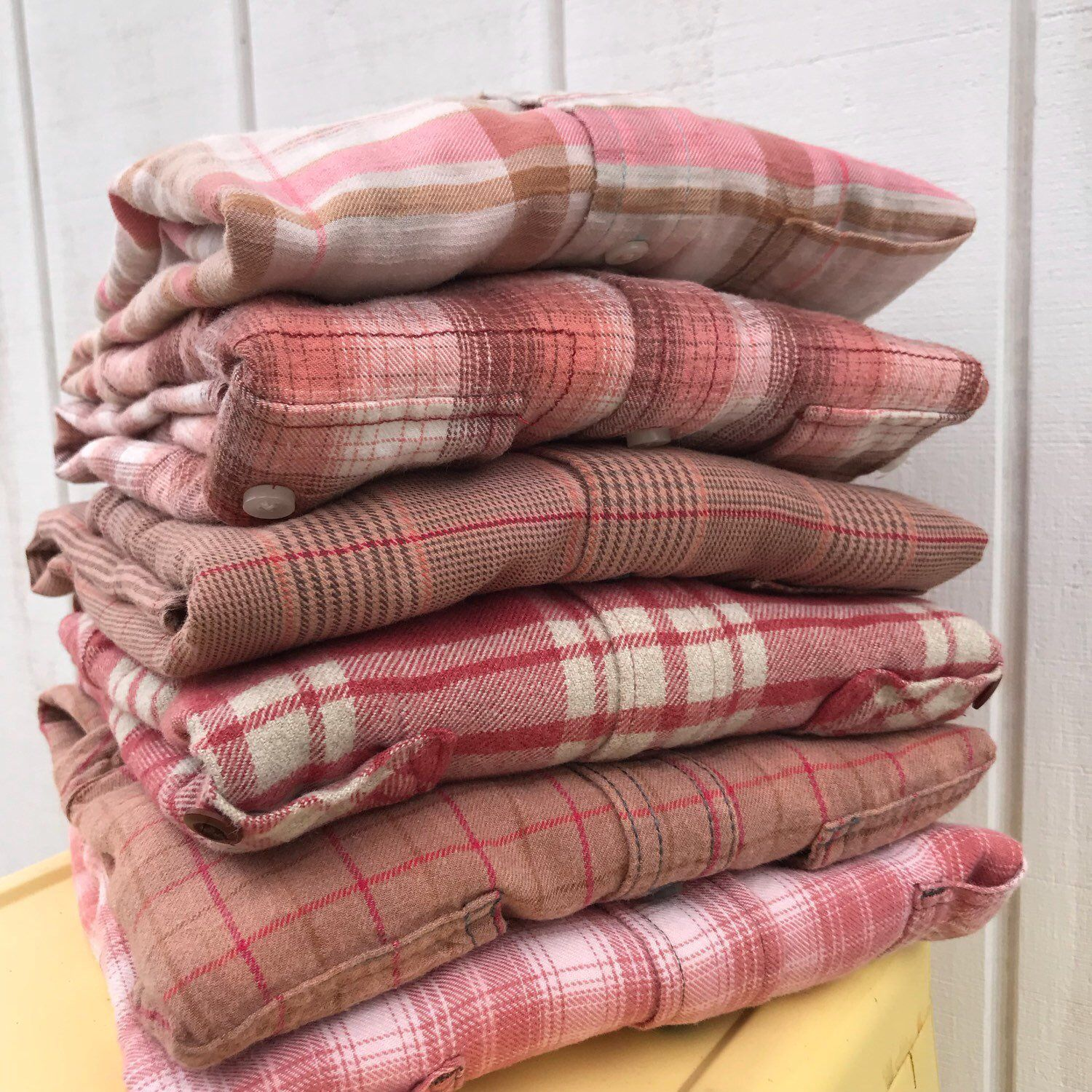 Rusted Rose Bridesmaid Flannel Shirts Vintage Flannels