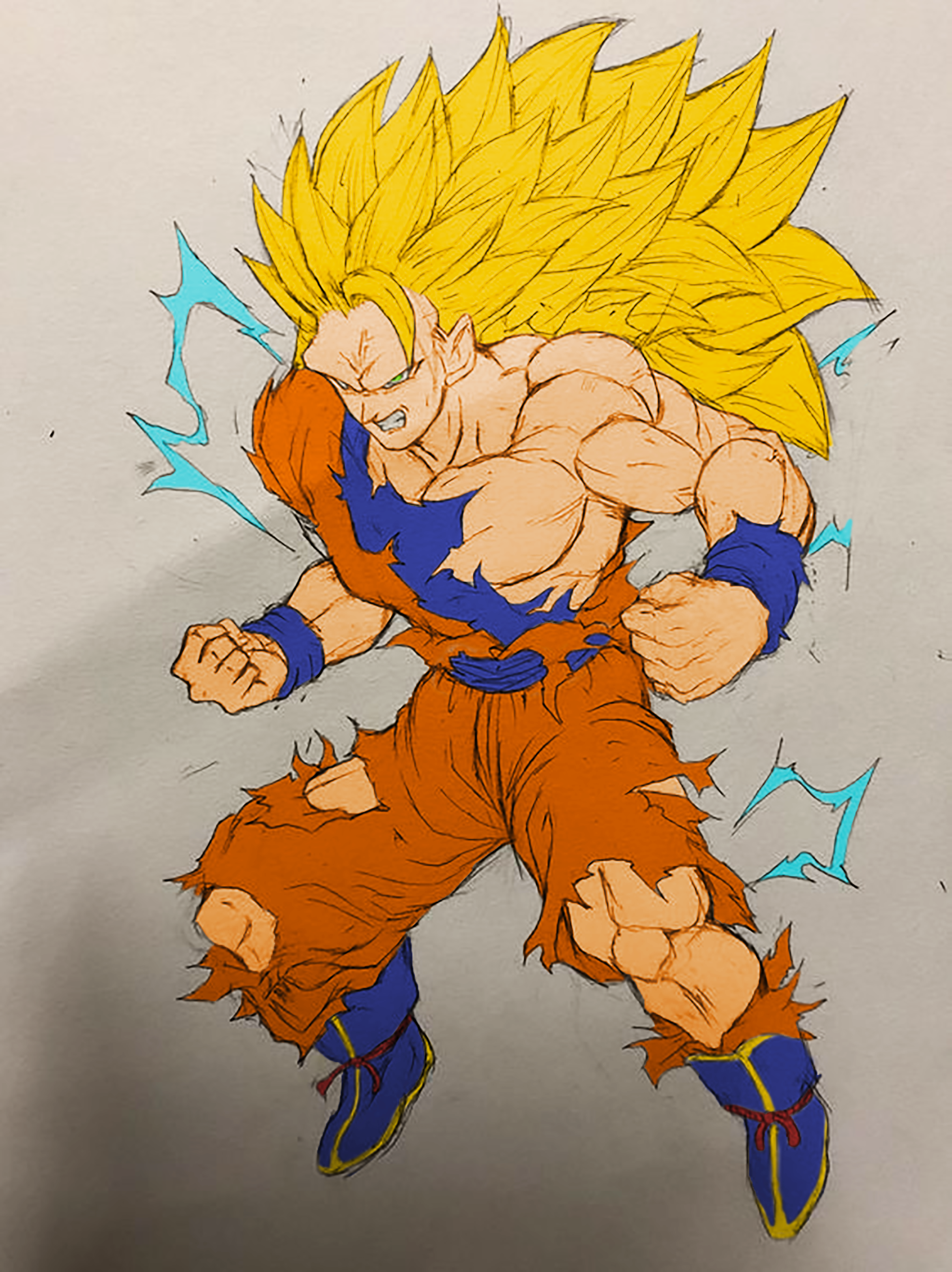 goku ssj3 coloré anime pinterest dragon ball goku and dragon