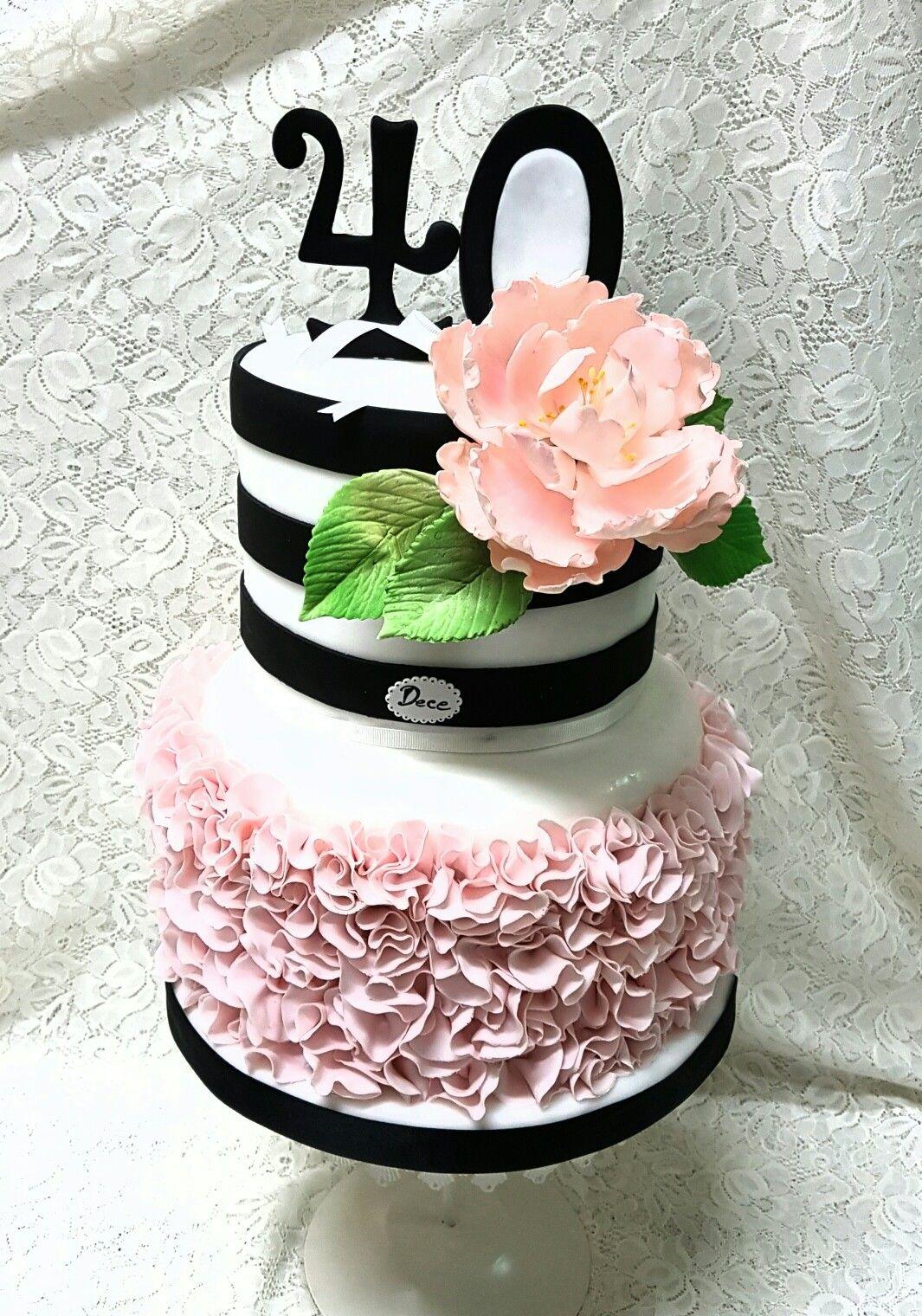 Torta decorata per 40 anni Pasticceria Dece di Nicla e
