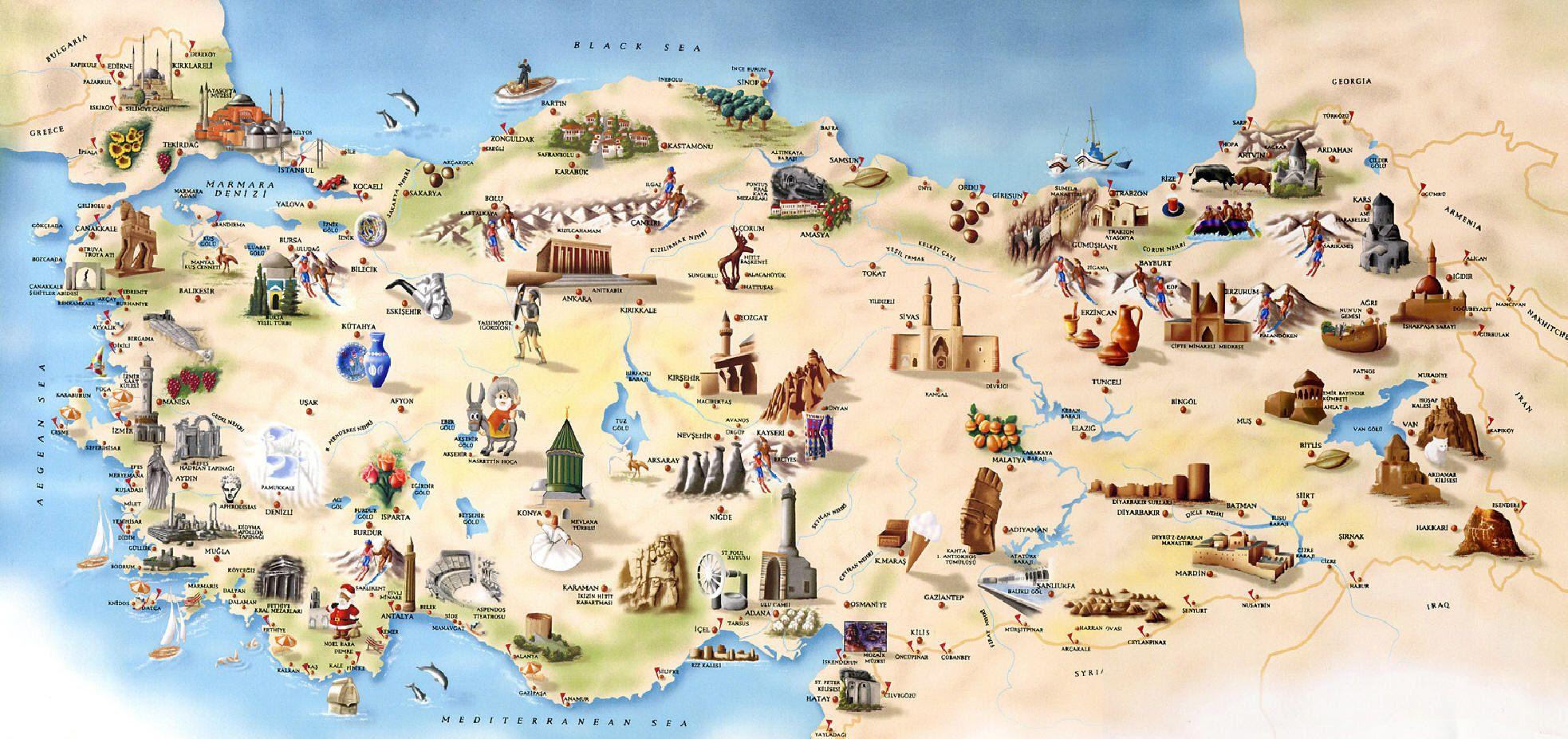 Turkey Tourism Map