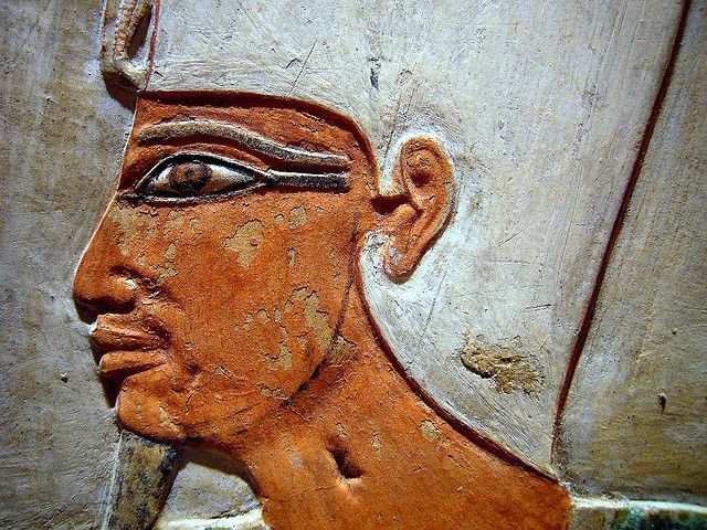 Pharaoh Mentuhotep II wearing the white crown of Upper Egypt by ggnyc, via Flickr