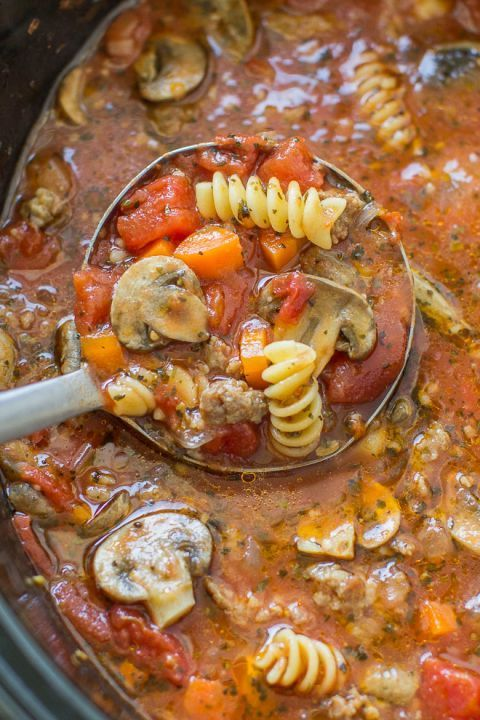 Slow Cooker Lasagna Soup Recipe | Culinary Hill