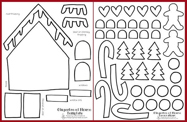 Christmas Gingerbread House Printables.Printable Gingerbread House Craft Gingerbread Theme