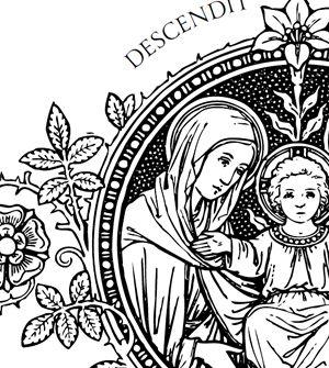 Catholic Line Art, Black and White • *beautiful* drawings ...