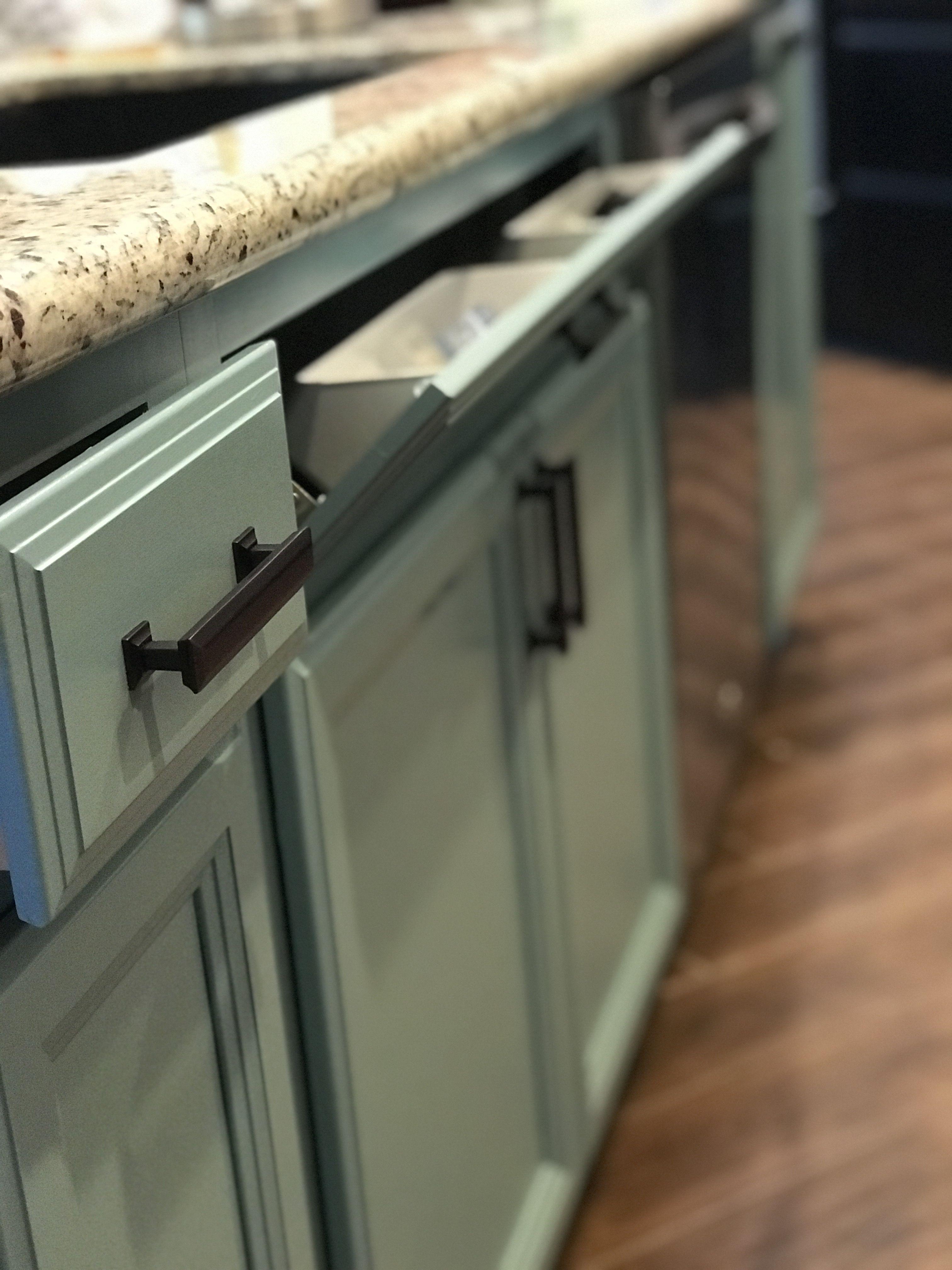 Seaside blue Satin Enamel Painted Kitchen Cabinets   Painting ...