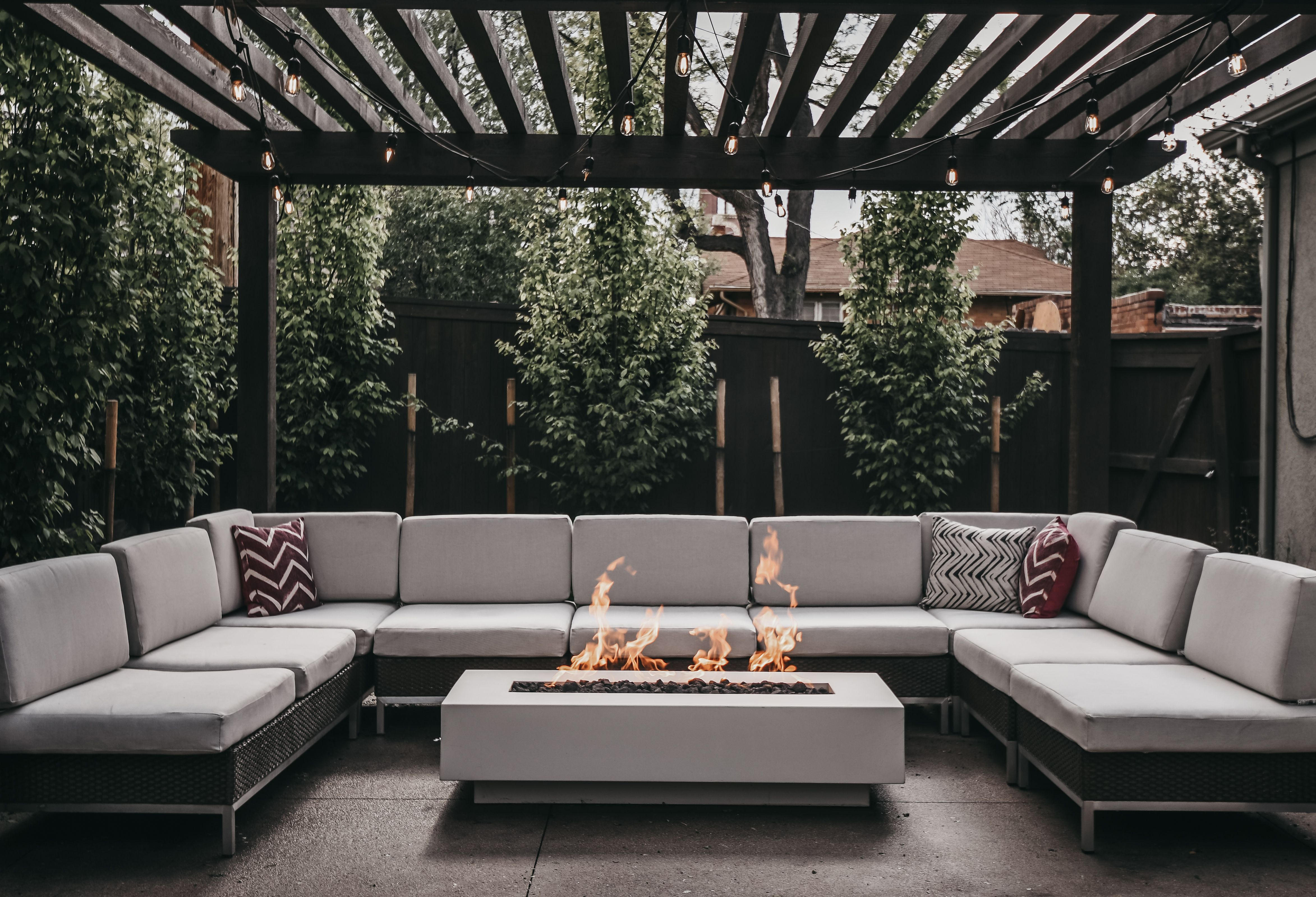 The Hearth Has Always Been A Common Gathering Place For Families A Place To Share Stories Break Bre Modern Outdoor Firepit Backyard Furniture Luxury Fire Pit Modern outdoor fire pit table