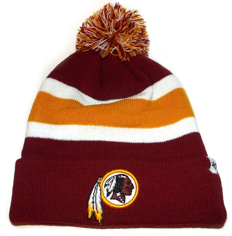 f6a1aebb 47 Brand NFL Washington Redskins Knit Cuffed POM Breakaway Beanie ...