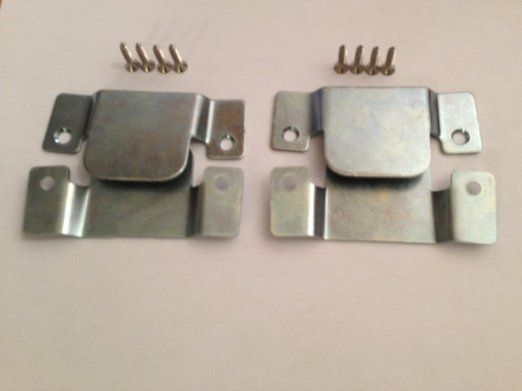 2 Pairs Metal Interlocking Connecting Clips For Sofas And Furniture Screws