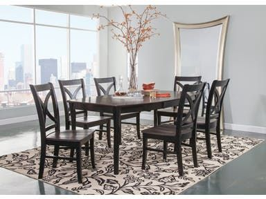 John Thomas Salerno Butterfly Extension Table T 75 4260xb C75 14 Black Dining Room Black Dining Room Table