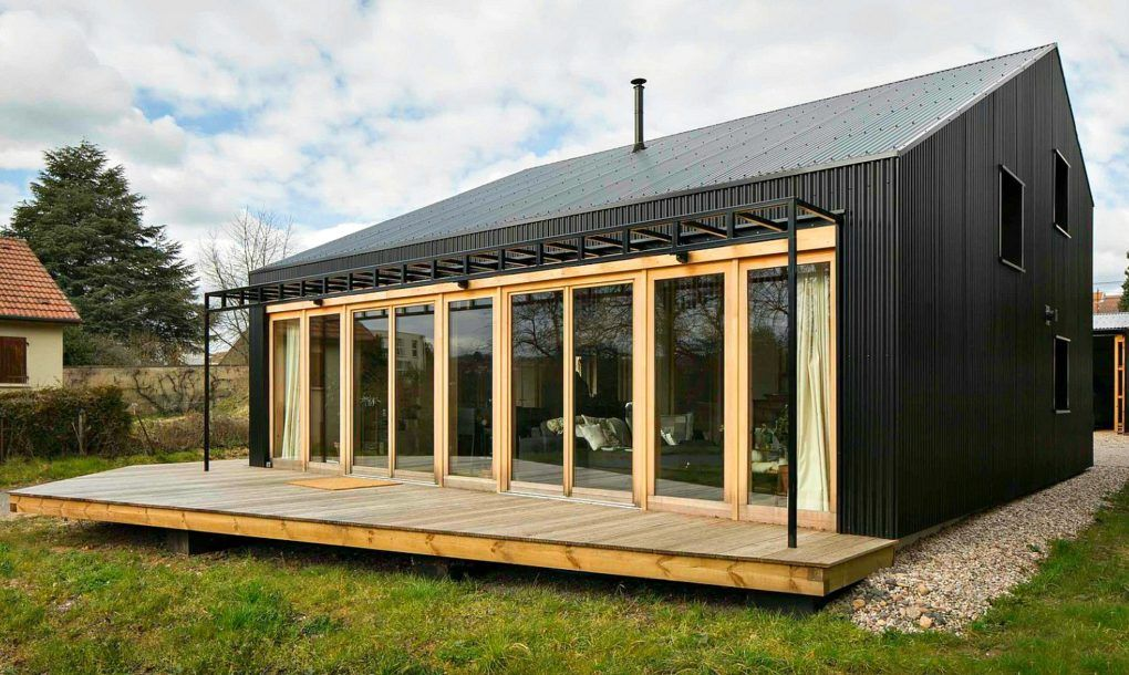 Studiolada Used All Wood Materials To Create This Affordable Open Source Home Anyone Can Build Barn Style House Plans Barn Style House Architecture