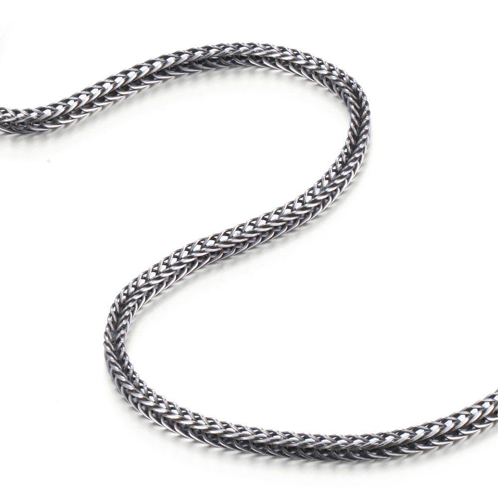 collier serpent homme argent