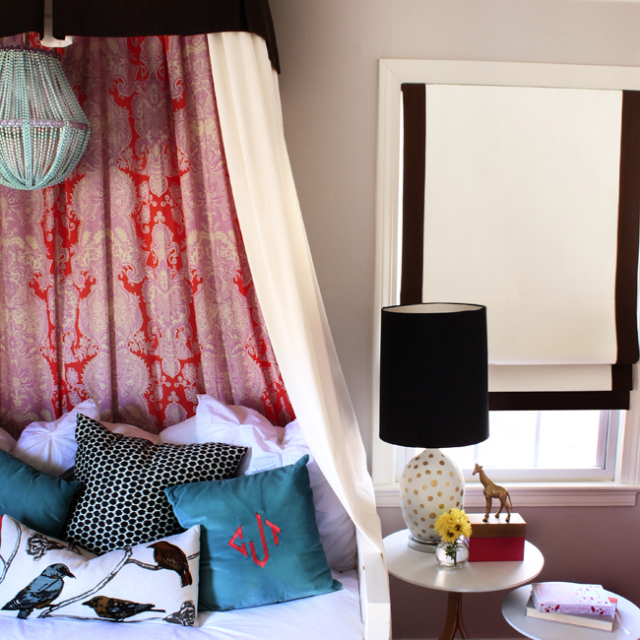 Count the Dreamy DIYs in This Bohemian Bedroom is part of Bohemian bedroom Canopy - If your bedroom is aching for a makeover, Kristin at The Hunted Interior has just the inspiration you need  Romantic and feminine, the bedroom she designed for