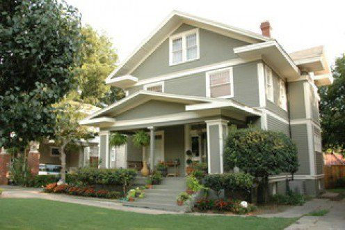 American Foursquare House Style Four Square Homes House Styles House Exterior