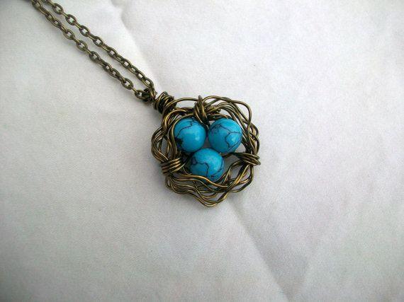 Turquoise birds nest pendant gah i love this 16 j e w e l r y turquoise birds nest pendant gah i love this 16 aloadofball Choice Image