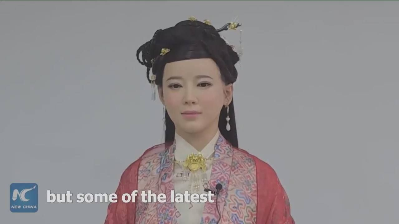 Interactive robot Jia Jia explores latest technologies at a national science center in Hefei, China.