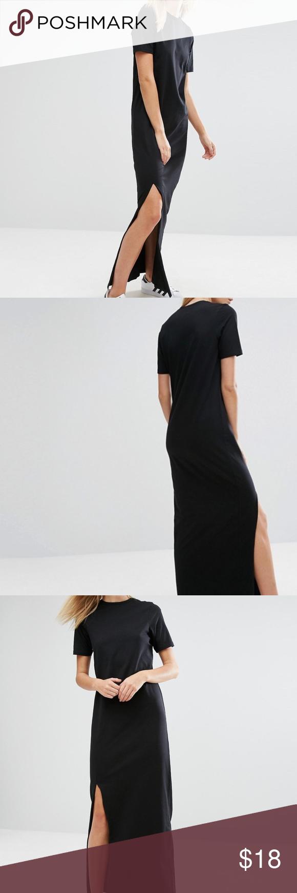 Asos Tall Basic Tee Maxi Dress Long Shirt Dress Maxi Dress Dresses [ 1740 x 580 Pixel ]