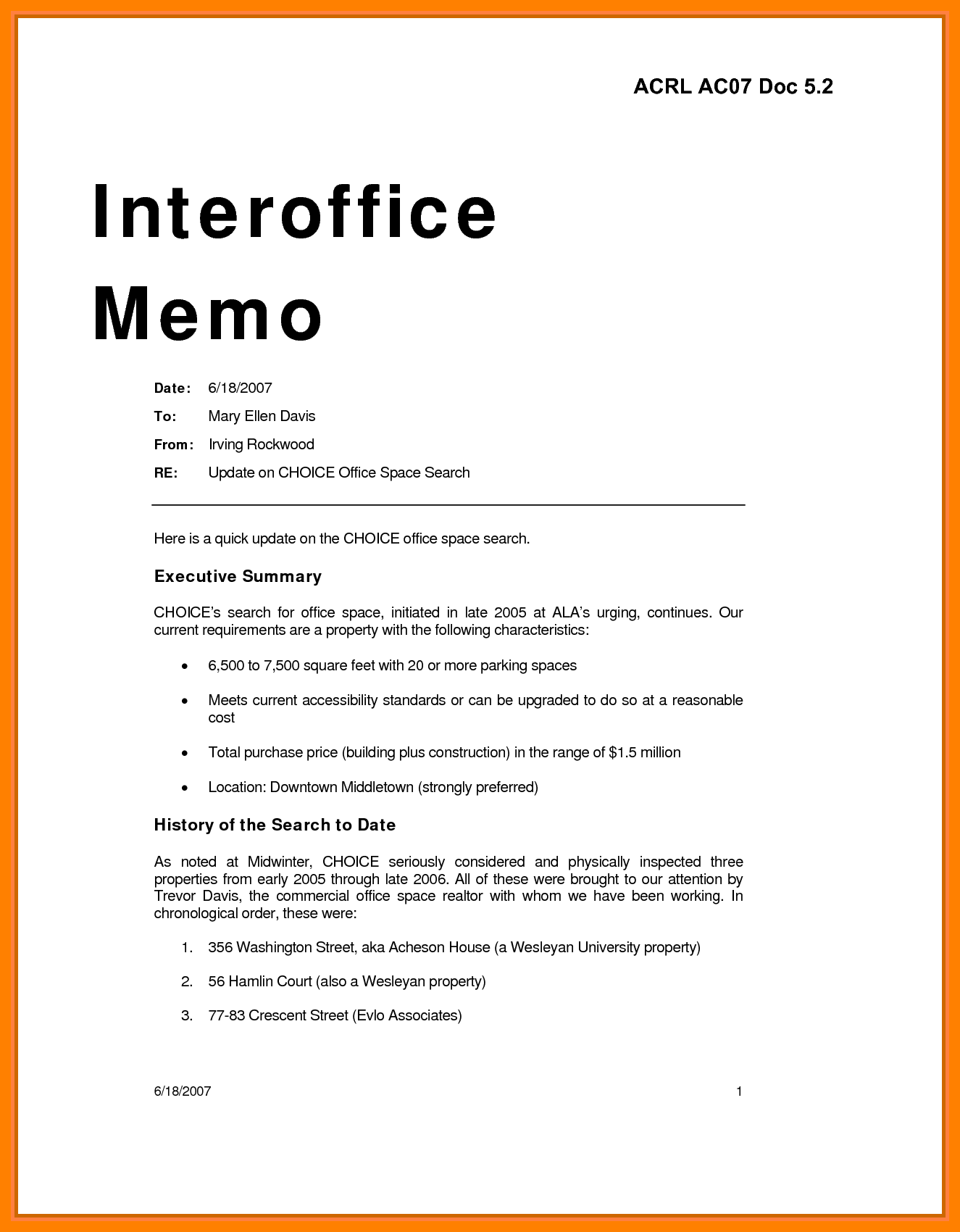 Cover Letter Office Space