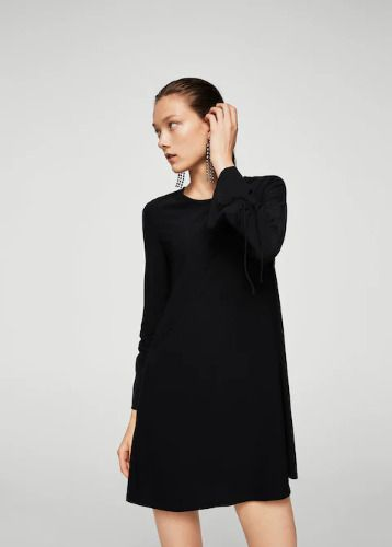 Mango Ruched Sleeve Dress Black Size UK 12 rrp 15.99 DH091 HH 16  fashion   clothing  shoes  accessories  womensclothing  dresses (ebay link) 9733842eb