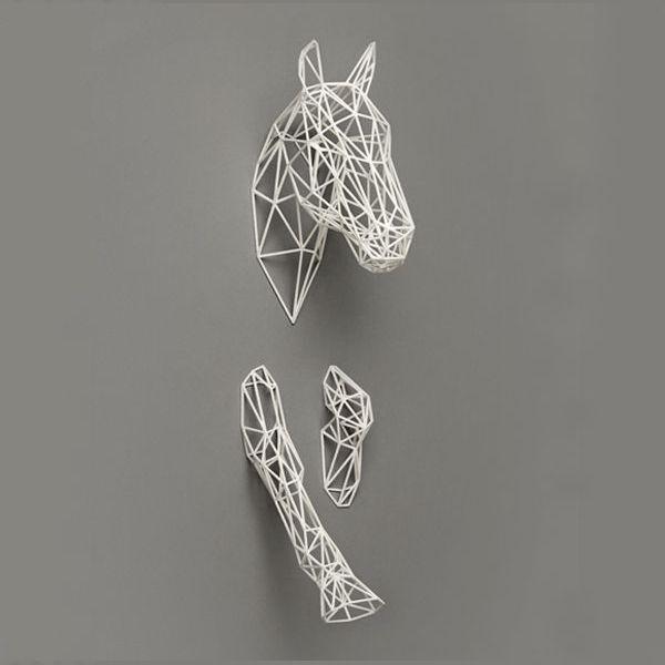 Déco cheval metal   art   Pinterest   Horse sculpture, Geometric