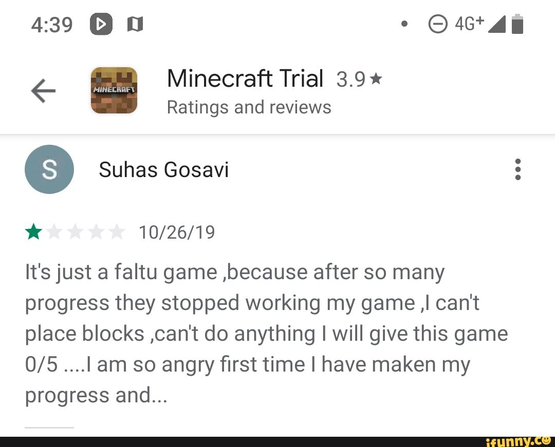 Minecraf T Trial 3 9 Ratings And Reviews 10 26 19 It S Just A