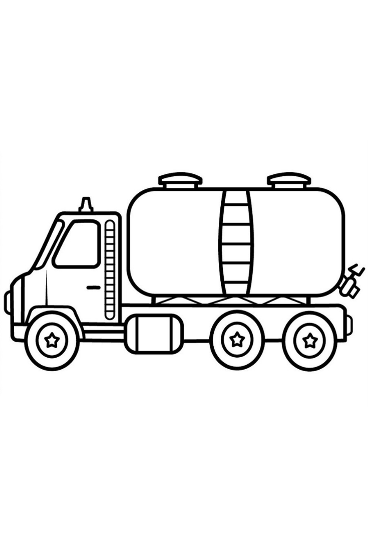 Oil Truck Coloring Pages For Kids Drawings Of Oil Truck How To