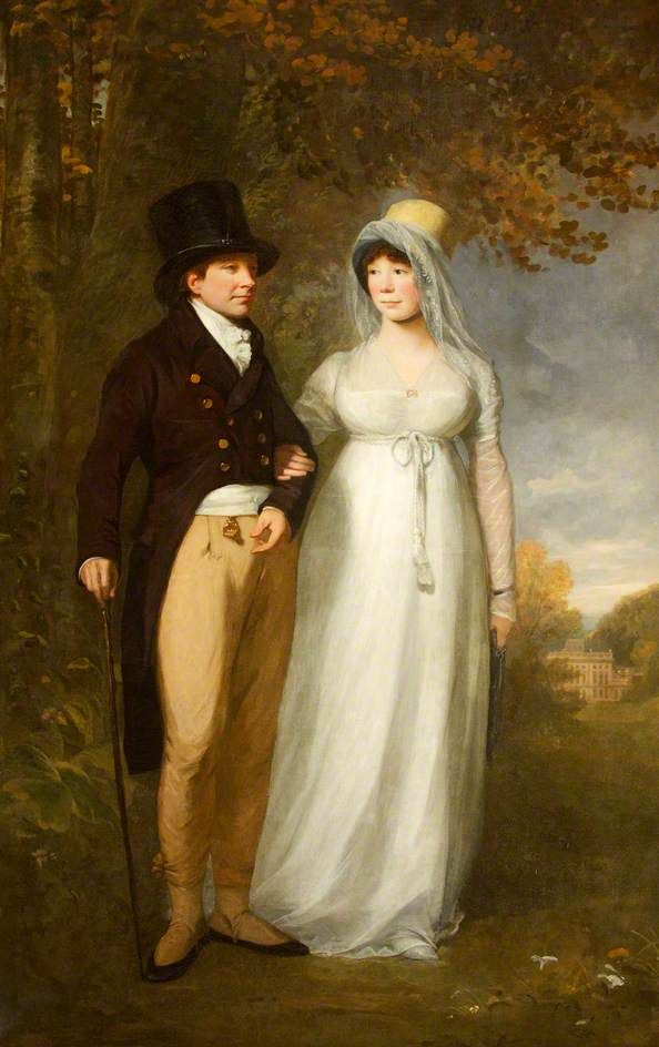 BBC - Your Paintings - William Blathwayt IV (1751–1806), and His Wife, Frances Scott (d.1844), out Walking