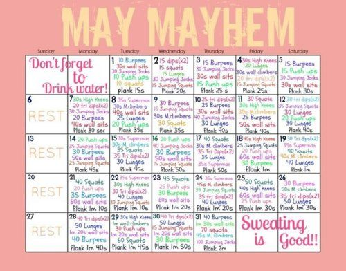 May 2013 May Fitness Challenge Tumblr Workout Challenge Month Workout Challenge Fun Workouts